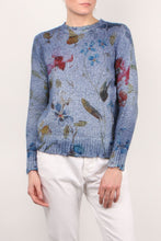 Load image into Gallery viewer, Destroyed Denim Floral Knit