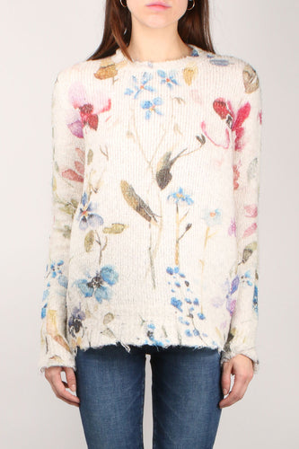 Destroyed Floral Knit