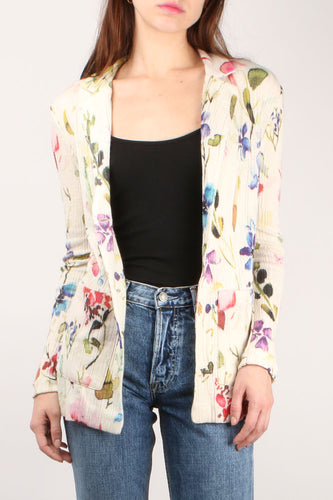 Hand Painted Floral Jacket