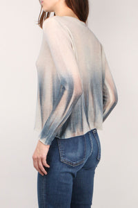 Ombre Blue & Cream Sweater