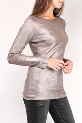 Thin Metallic Pullover