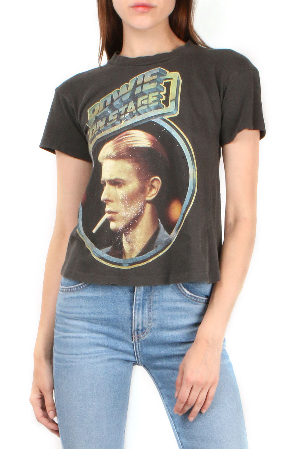 Bowie On Stage Crop Tee