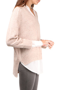 V-Neck Layered Pullover