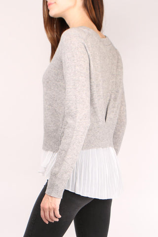 Layered Plisse Pullover