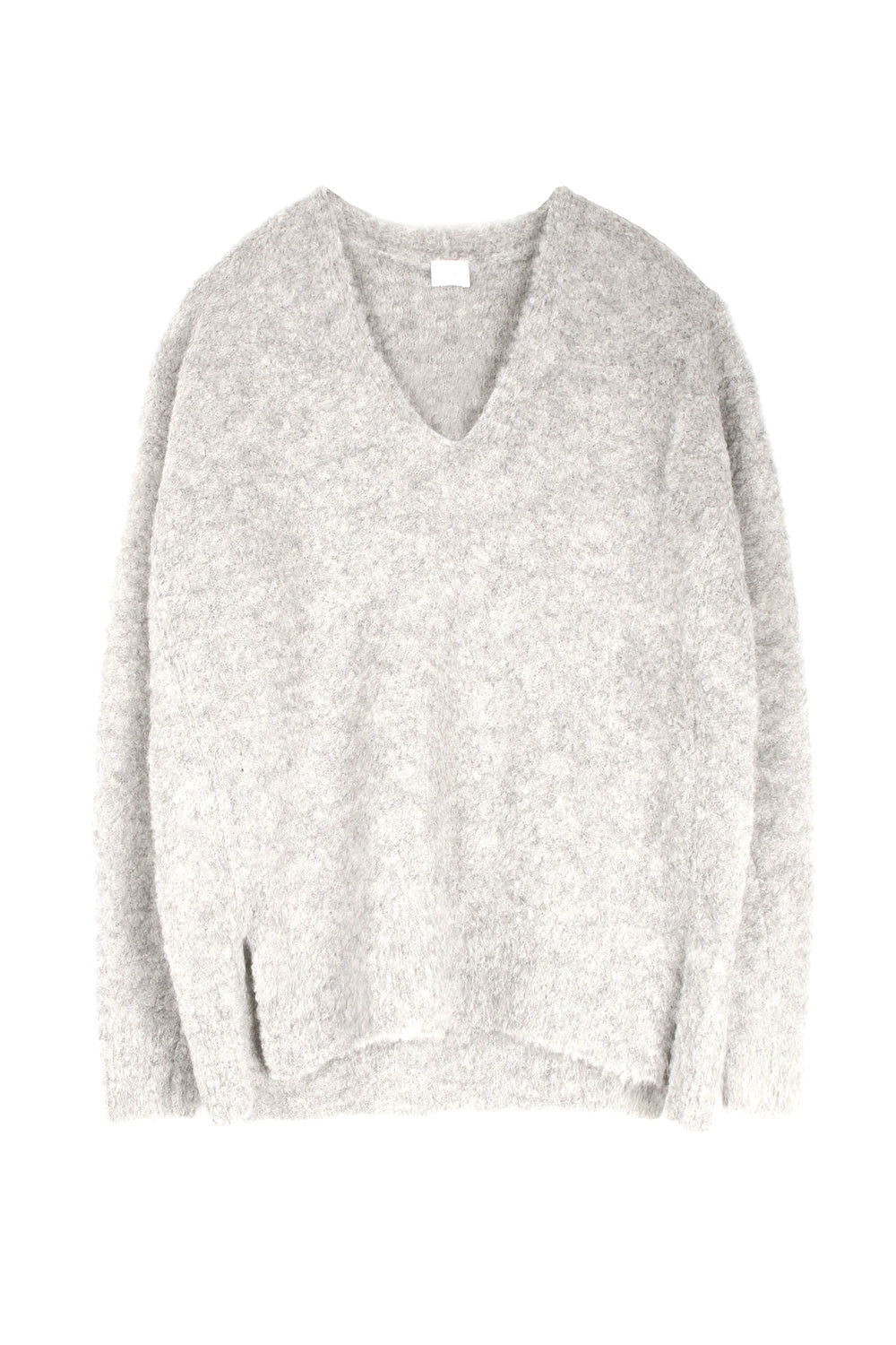 Light Grey Alpaca V Neck