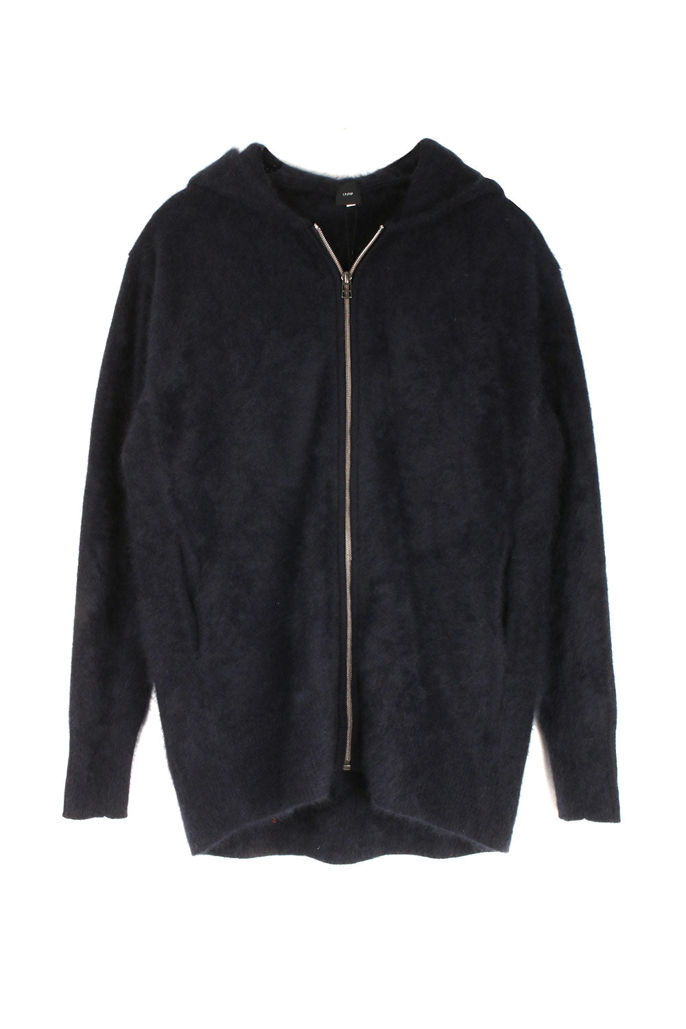 Navy Wool Zip Up