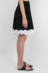 Jonathan Simkhai Scallop Crepe Short Side
