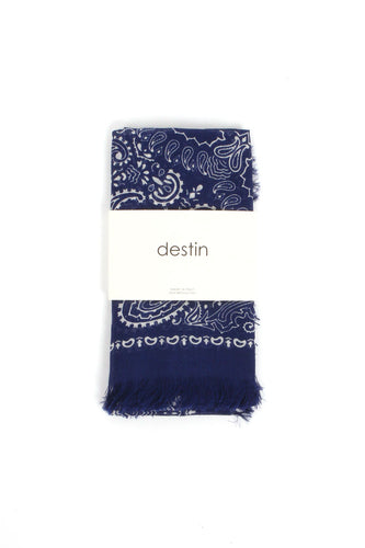 Blue Bandana Scarf From Destin
