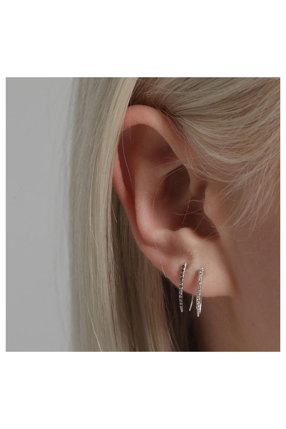 Pave Infinite Tusk Earring