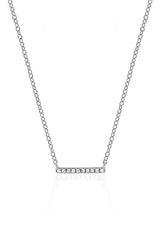 EF Collection Diamond Mini Bar Necklace