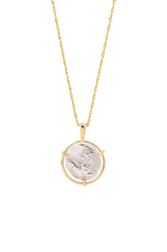 Lion Medal Coin Necklace