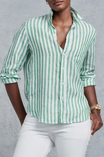 Eileen Green Stripe Button Down