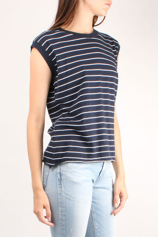 Vintage Navy Stripe Muscle Tee