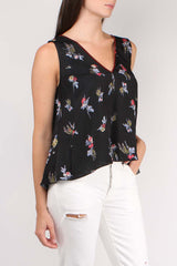 Highlands Flowers Satin Top