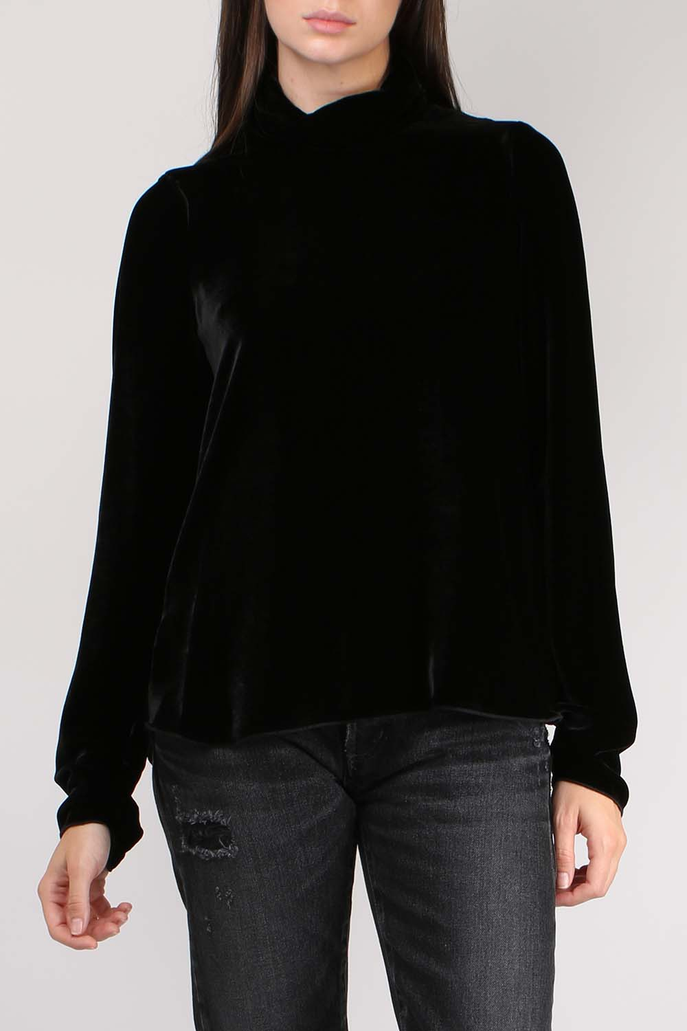 Velvet Turtle Neck Top