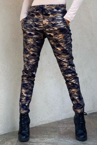 Shely Navy and Gold Camo