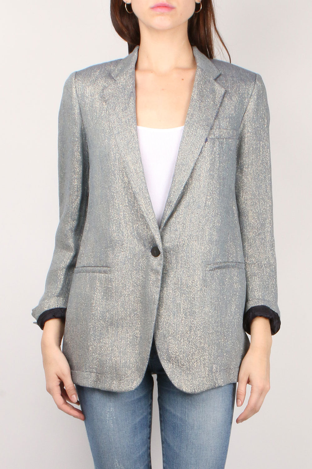 Linen Diagonal Jacket