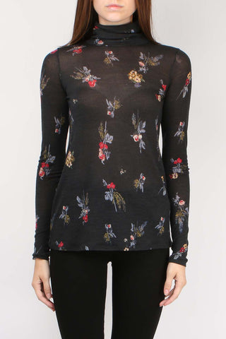 Highlands Flowers L/S Turtleneck