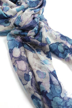 Load image into Gallery viewer, Euclide Camo Blue Scarf