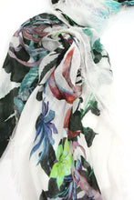 Load image into Gallery viewer, Rieti Floral Cream Scarf