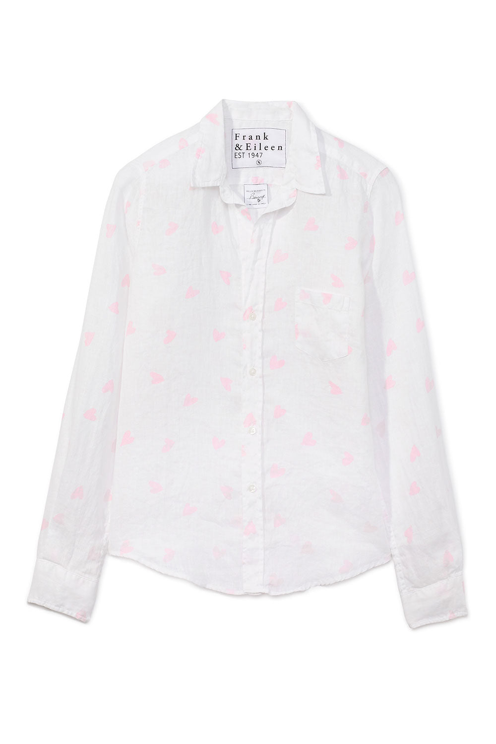 Barry Pink Heart Button Down