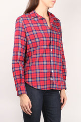 Eileen L/S Button Down Red Plaid