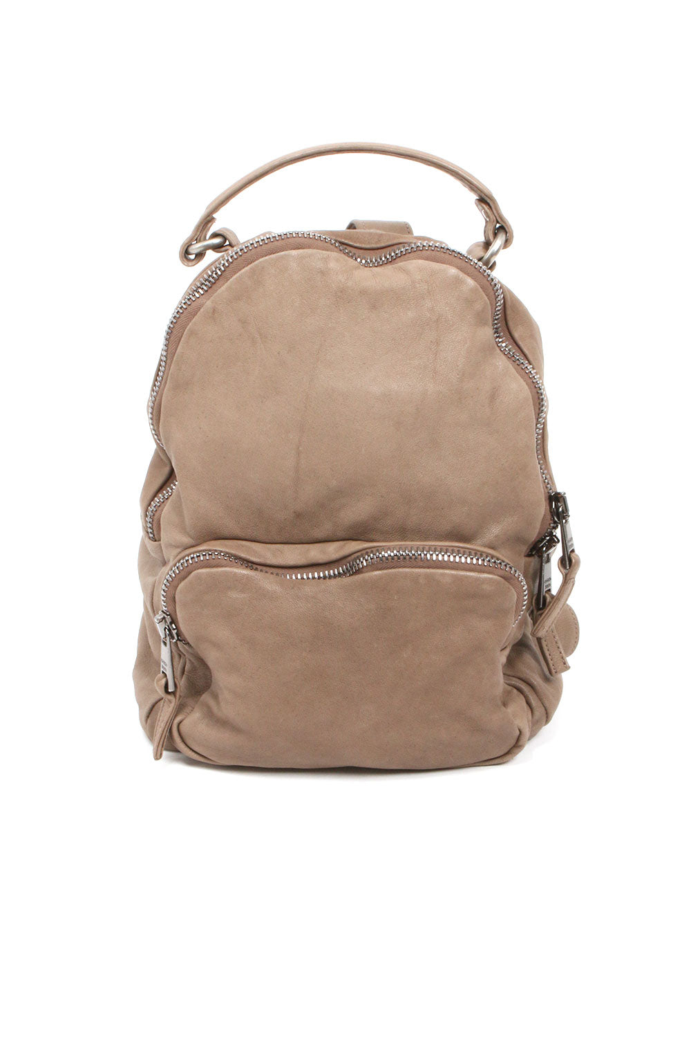 Leather Backpack in Taupe Color from Giorgio Brato