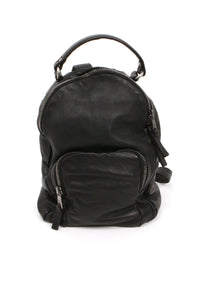 Black Leather Backpack From Giorgio Brato