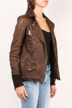 Load image into Gallery viewer, Distressed Leather Jacket