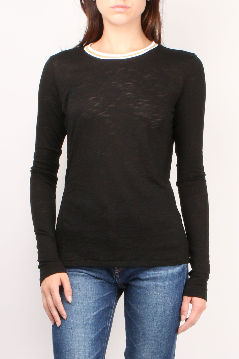 L/S Black Tipped Tee