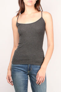 Ribbed Charcoal Cami
