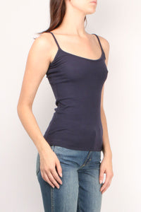 Ribbed Navy Cami