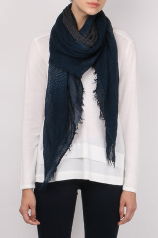 Destin Ginga Fumato Aqua Grey Scarf