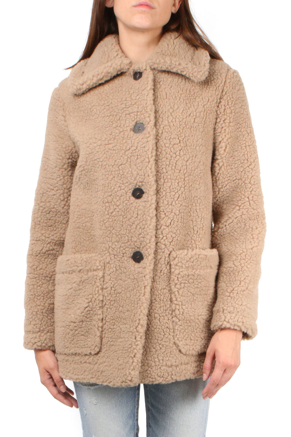 Shearling Collared Jacket
