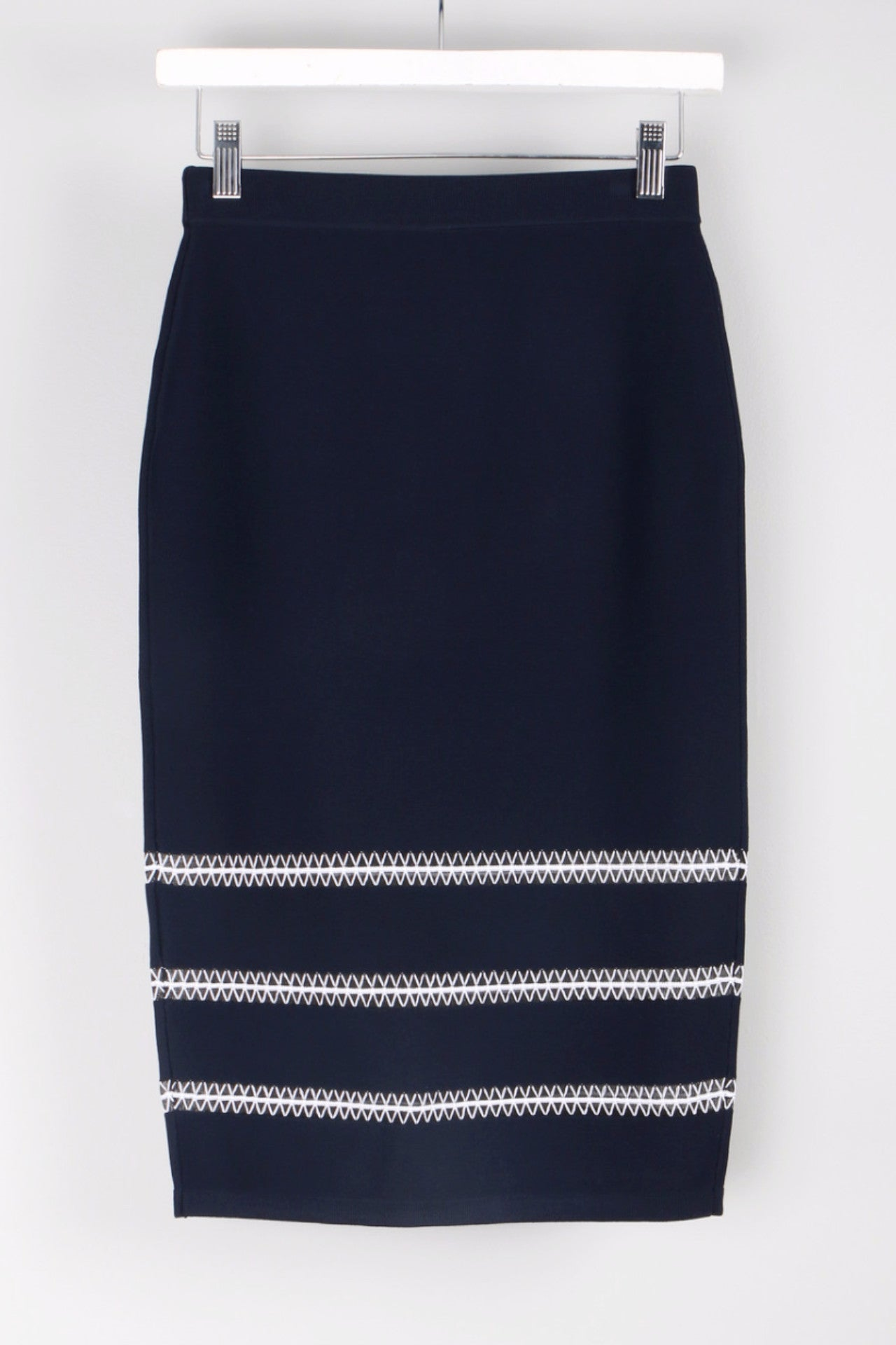 Tower Trim Pencil Skirt Back
