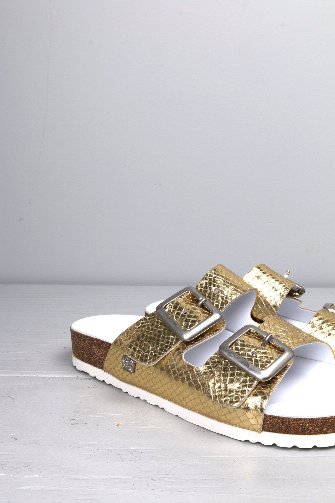 Gold Double Strap Sandal
