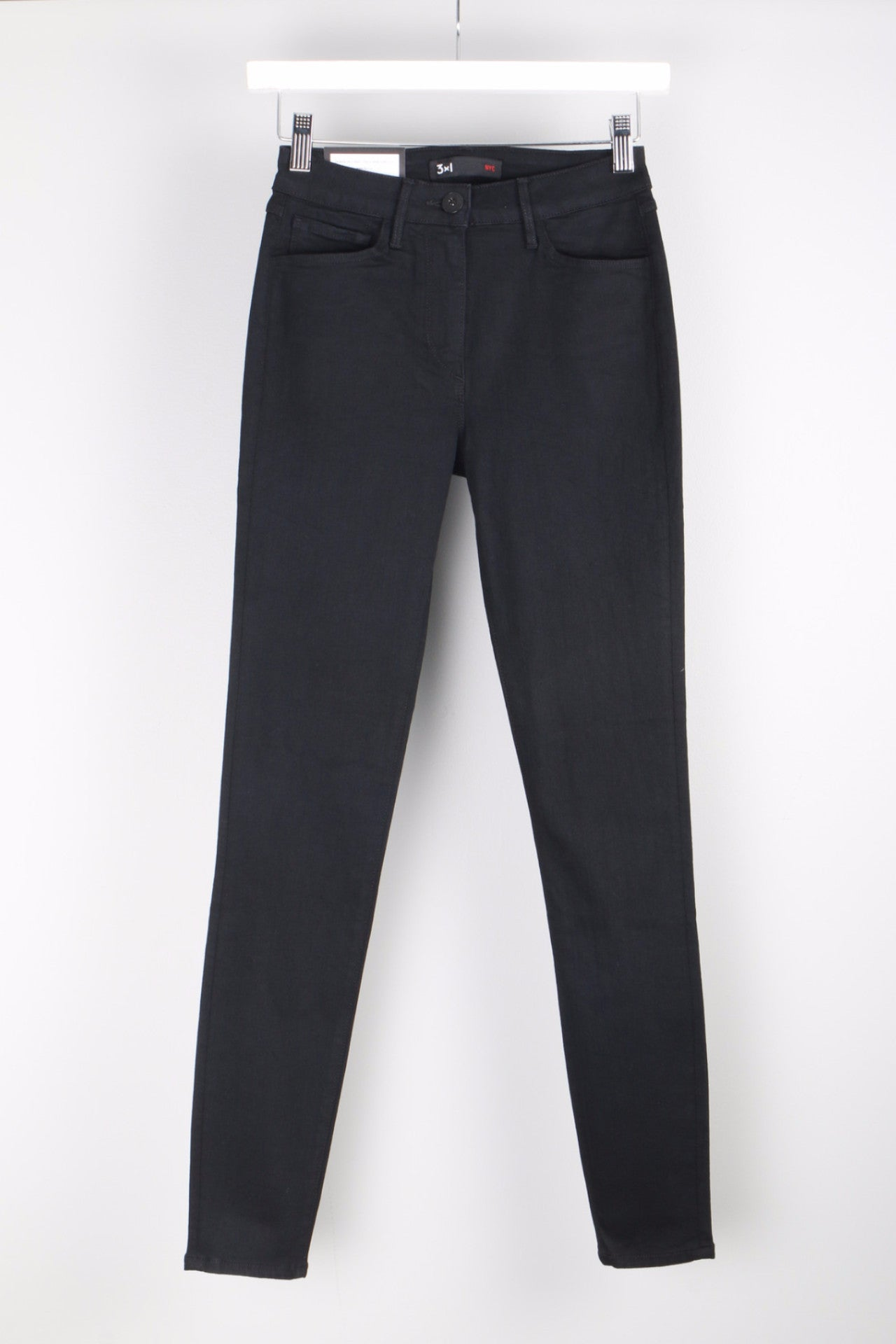 W3 High Rise Crop Skinny Front