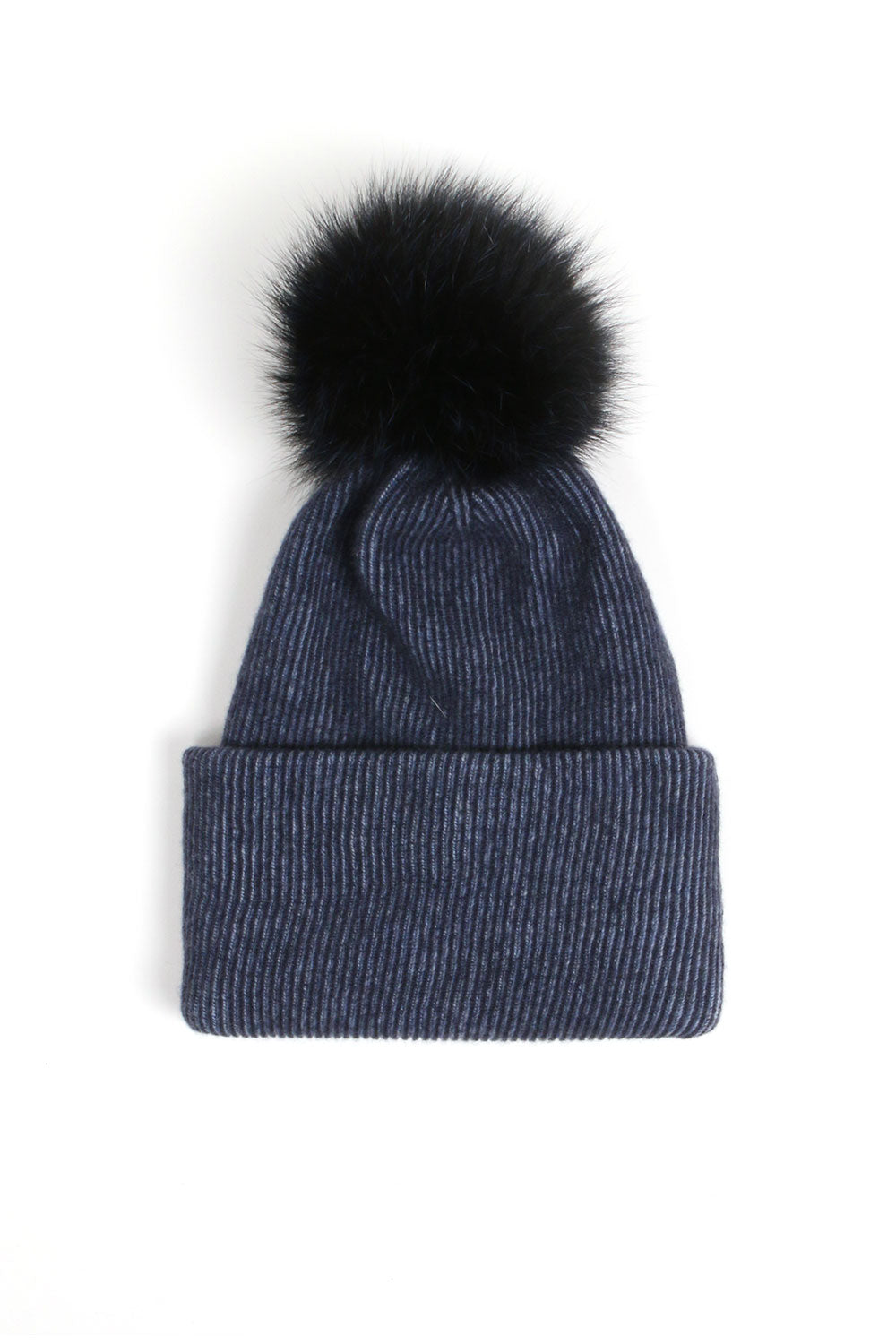 Ribbed Navy Hat