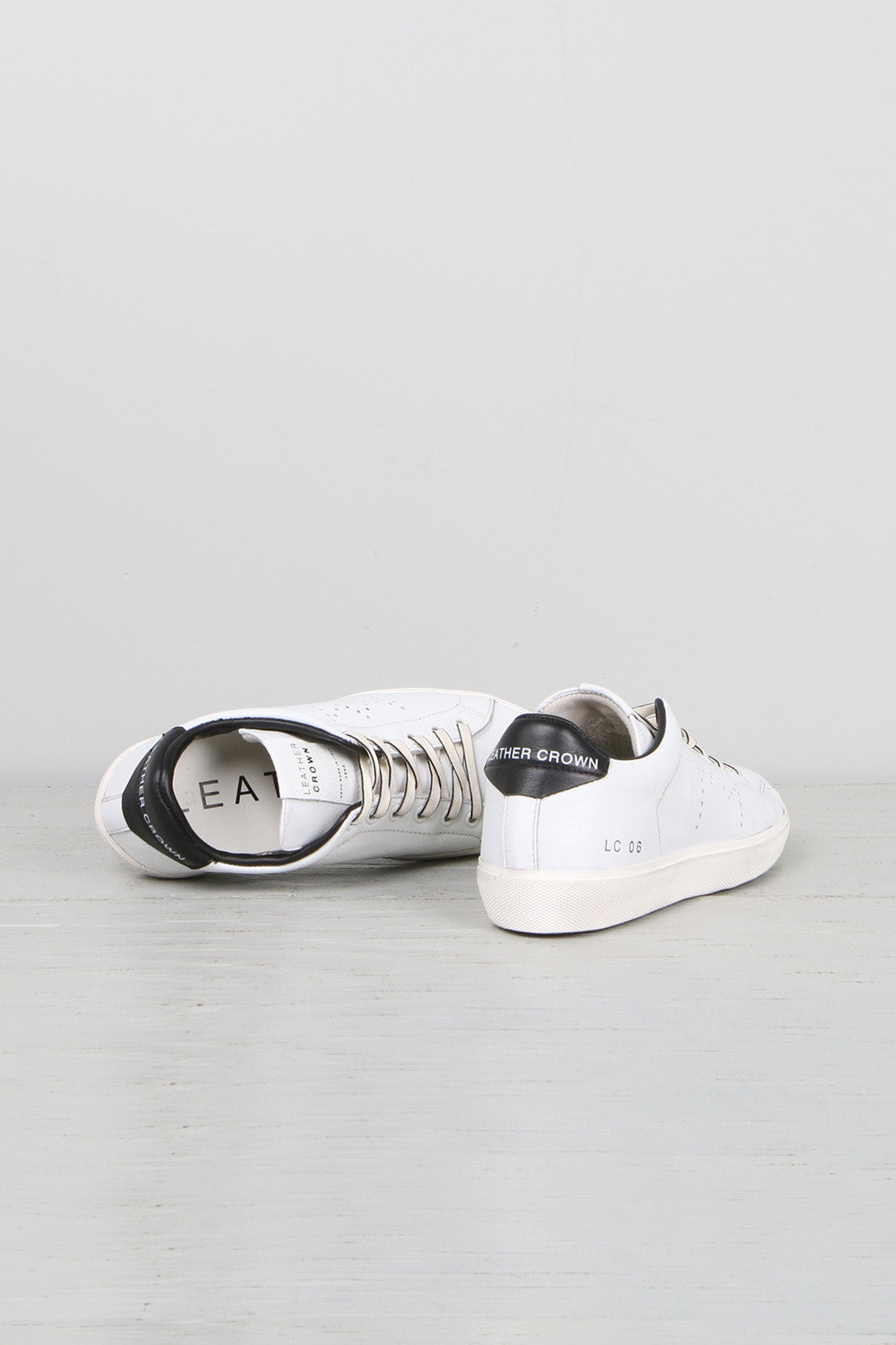 Leather Crown Italy Women's Iconic Classic Sneakers