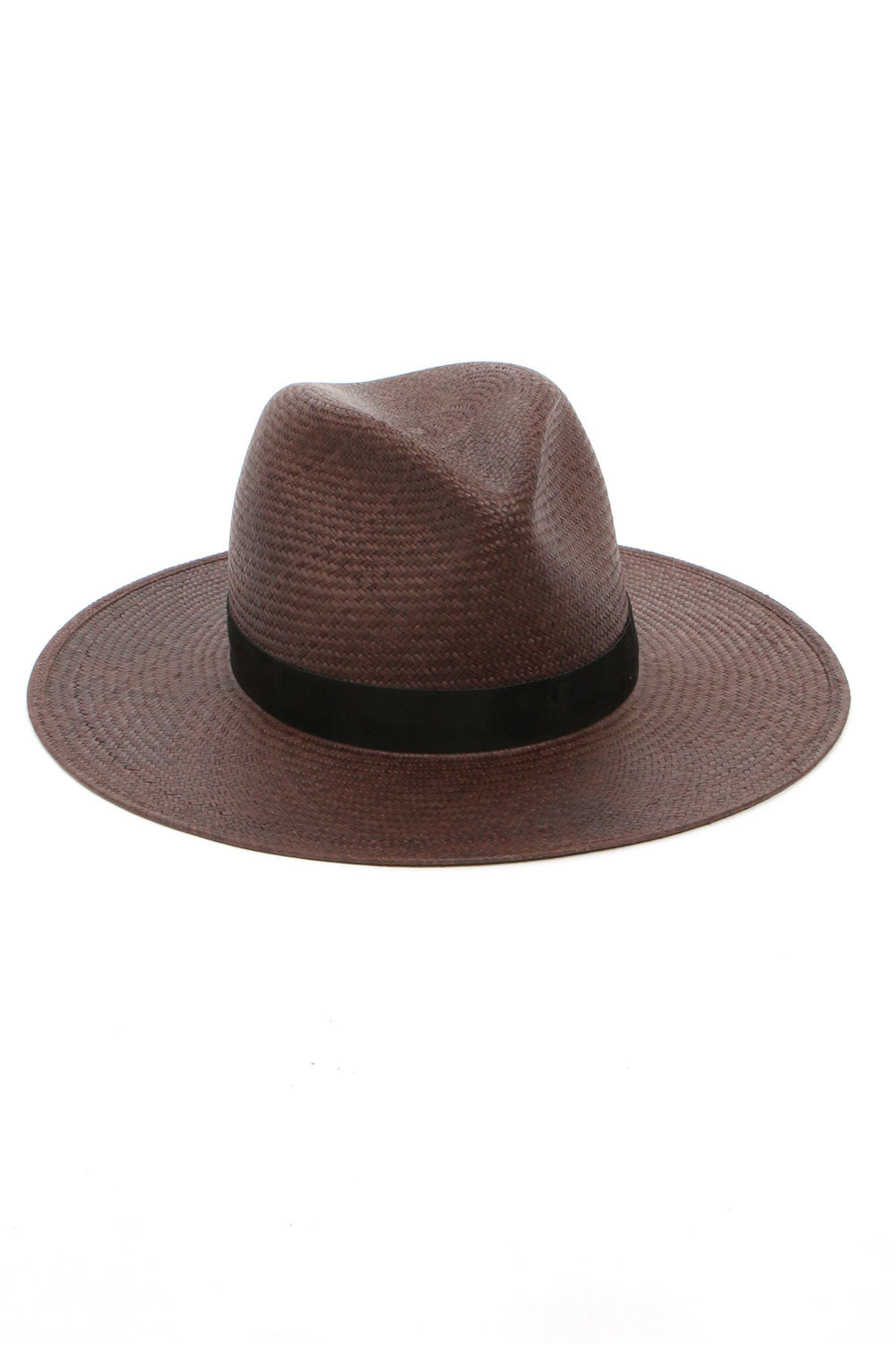 Karla Straw Hat in Chestnut Color by Janessa Leone