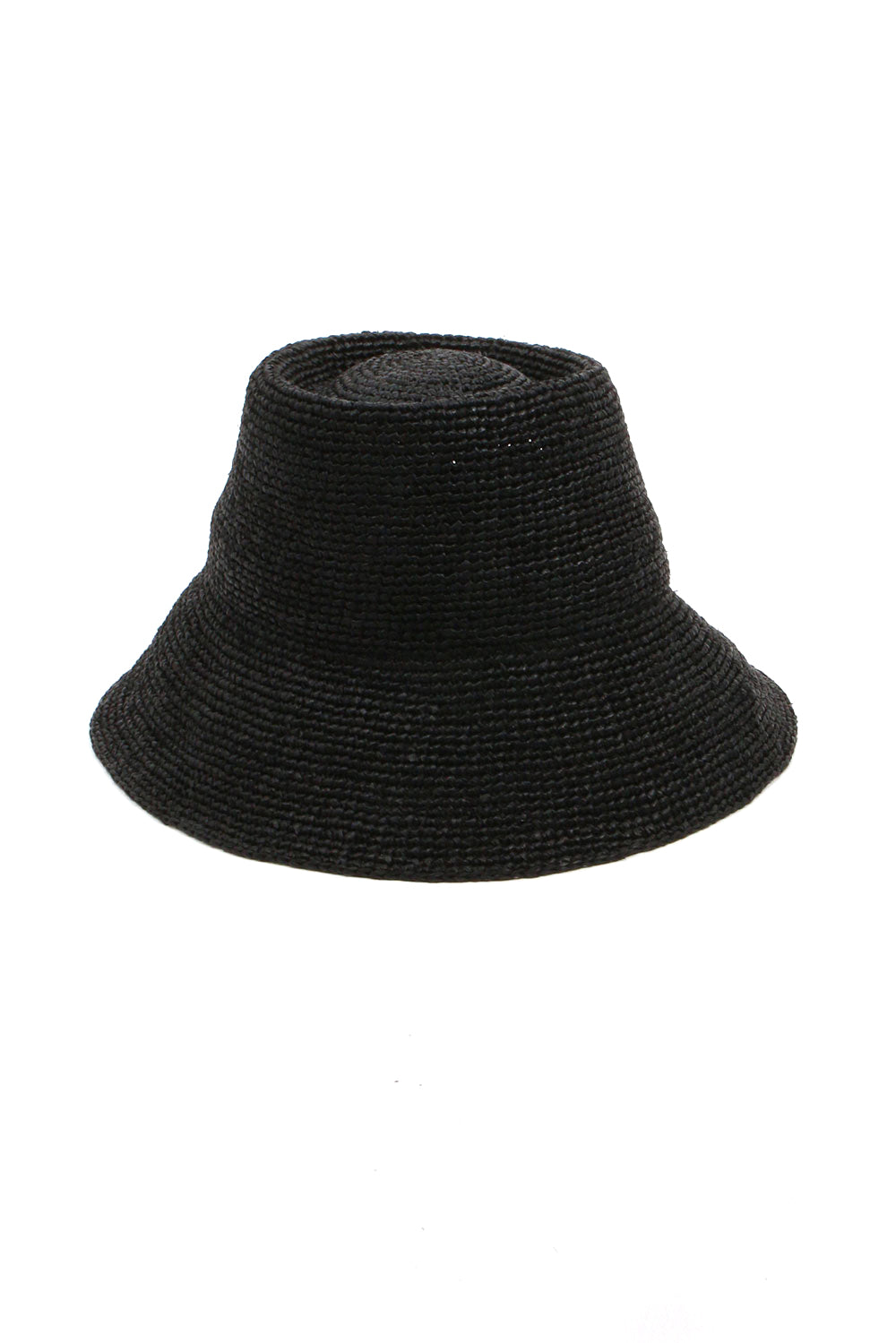 Black Raffia Hat Named Felix From Janessa Leone