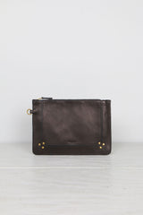 Jerome Dreyfuss Popoche M Smooth Lambskin Noir Brass