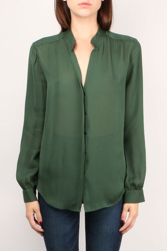 Bianca Band Green Blouse