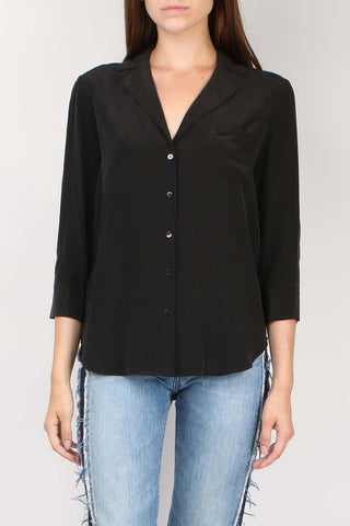 Amilna One Pocket Blouse