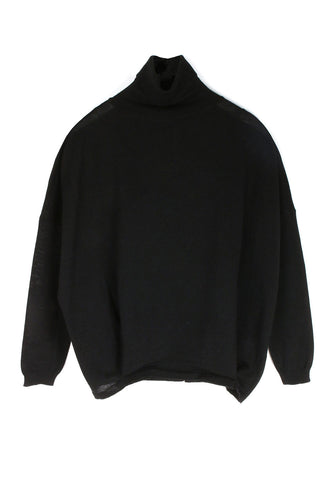 Fine Black Turtleneck