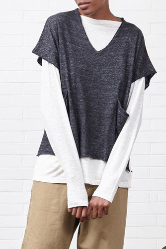 Dark Grey Pocket Knit