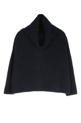 Short Navy Turtleneck