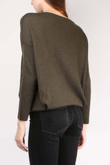 Pleat Neck Sweater