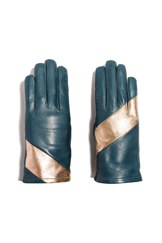 Fauve Teal Gloves