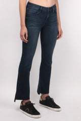 Frame Denim Le Crop Mini Boot Raw Stagger